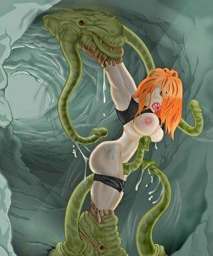 Horny alien tentacle fuckers