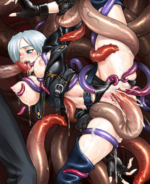 Tentacle action for these cute hotties